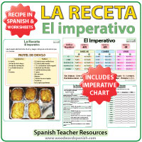 Spanish Imperative Recipe Worksheets - El imperativo